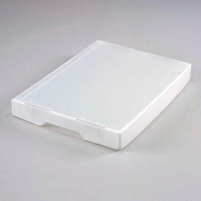 Global Industrial™ Corrugated Plastic Tote Lid Natural - Pkg Qty 10