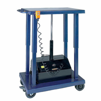 Wesco® Battery Operated Work Positioning Post Lift Table 261108 1000 Lb. Cap. 36x18 Platform