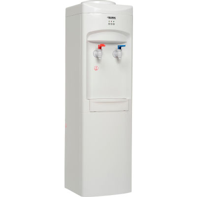Global Industrial® Top Load Bottle Water Cooler, Hot & Cold, White Color Finish