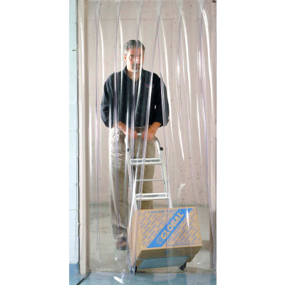 Global Industrial™ Pedestrian Strip Door Curtain 4'W x 8'H