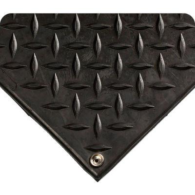 "Wearwell® Modular Diamond-Plate ESD Mat 1/2"" Thick 3' x 3' Black"