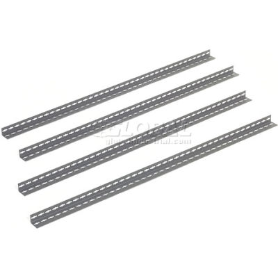 Global Industrial™ 10' High Gray Angle Post Set of 4