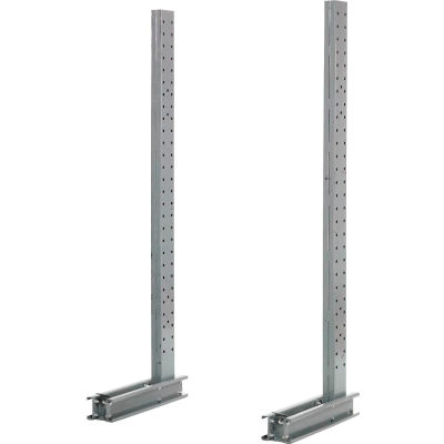 """Cantilever Rack Single Sided Upright (1000 Series), 33"""" D x 8' H, 7600 Lbs Capacity"""