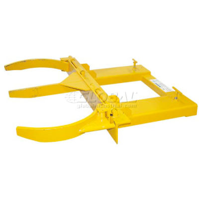 Double Fork Mounted Forklift Drum Gripper 3000 Lb. Capacity