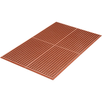 "Apache Mills WorkStep™ Anti Fatigue Drainage Mat 1/2"" Thick 3' x 5' Red"