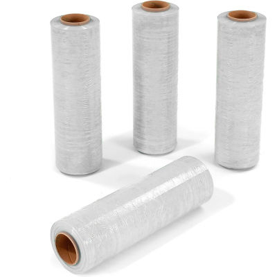 """White Stretch Wrap 18"""" x 1500' x 80 Gauge - Pkg Qty 4"""