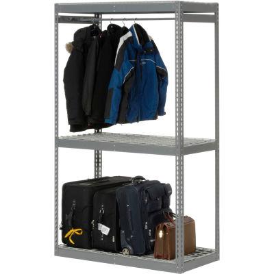 "Global Industrial™ Boltless Luggage Garment Single Rack - 48""W x 24""D x 84""H"