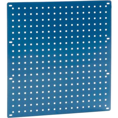 """Global Industrial™ Heavy Duty Steel Pegboard 18"""" x 19"""" Blue"""