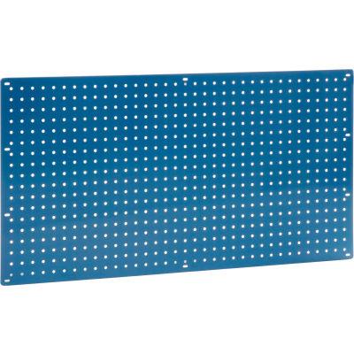 """Global Industrial™ Heavy Duty Steel Pegboard 36"""" x 19"""" Blue"""
