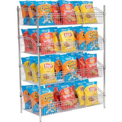 """Nexel® Wire Shelf Basket 48""""W x 18""""D x 63""""H"""