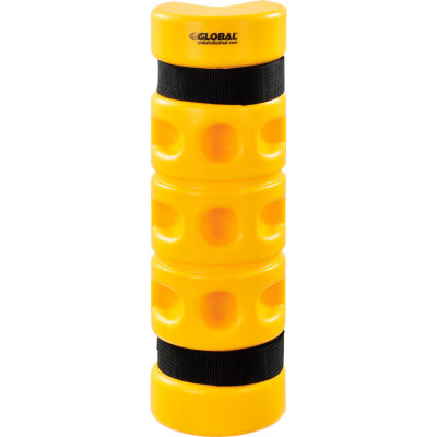 "Global Industrial™ Rack Protector, Rack End Mounting, 3"" x 3"" Opening, 18""H, Yellow"