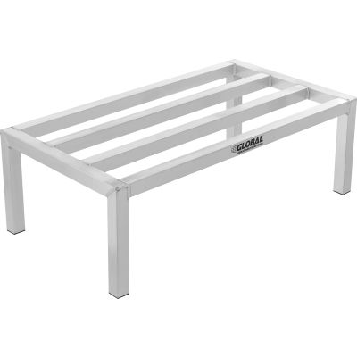 "Global Industrial™ Aluminum Dunnage Rack 24""W x 18""D x 8""H"