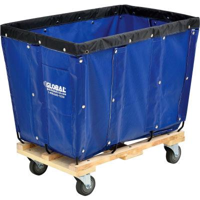 Global Industrial™ KD, 8 Bushel, Blue Vinyl Basket Bulk Truck