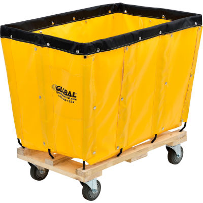 Global Industrial™ KD, 8 Bushel, Yellow Vinyl Basket Bulk Truck