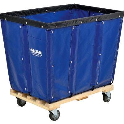 Global Industrial™ KD, 12 Bushel, Blue Vinyl Basket Bulk Truck