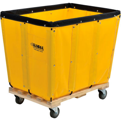 Global Industrial™ KD, 12 Bushel, Yellow Vinyl Basket Bulk Truck