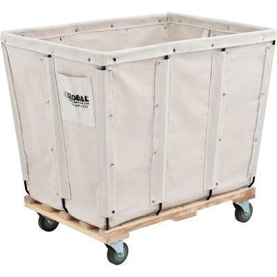 Global Industrial™ KD, 16 Bushel, Canvas Basket Bulk Truck