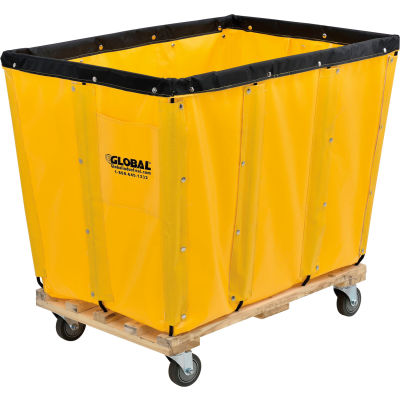 Global Industrial™ KD, 16 Bushel, Yellow Vinyl Basket Bulk Truck