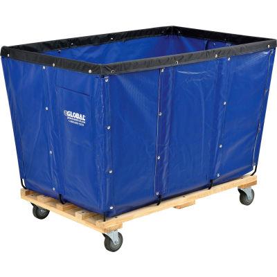 Global Industrial™ KD, 20 Bushel, Blue Vinyl Basket Bulk Truck
