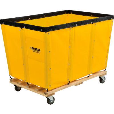 Global Industrial™ KD, 20 Bushel, Yellow Vinyl Basket Bulk Truck