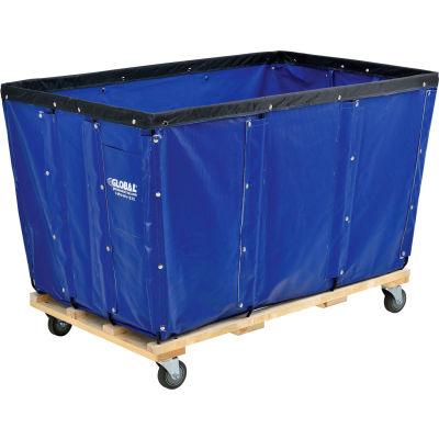 Global Industrial™ KD, 24 Bushel, Blue Vinyl Basket Bulk Truck