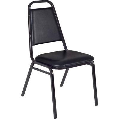 Regency Armless Stack Chair - Black - Restaurant Series - 4/PK