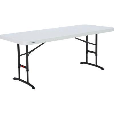 "Lifetime® 72"" Adjustable Height Folding Table Almond"