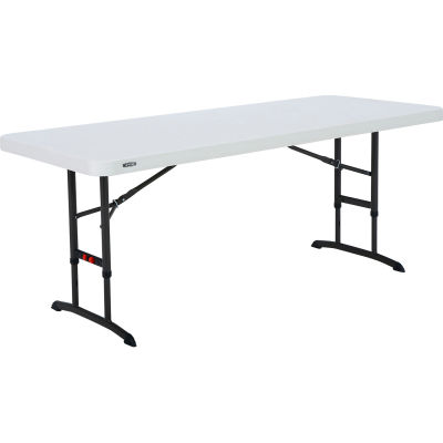 Lifetime® 6-ft. Commercial Adjustable Height Folding Table, Almond