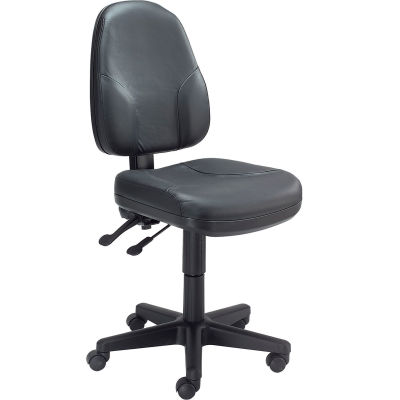 Interion® Multifunction Office Chair - Leather - Black
