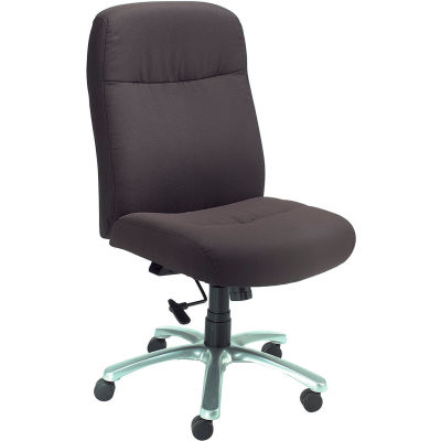 Interion® Big and Tall Chair - Fabric - High Back - Black
