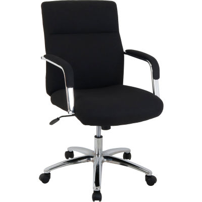 Interion® High Back Fabric Task Chair - Black