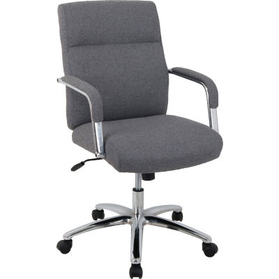 Interion® High Back Fabric Task Chair - Charcoal Gray