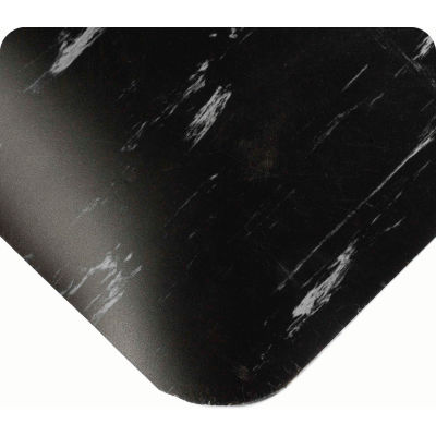 """Wearwell® Tile-Top™ Anti Fatigue Mat WOW Finish 7/8"""" Thick 3' x 60' Black"""