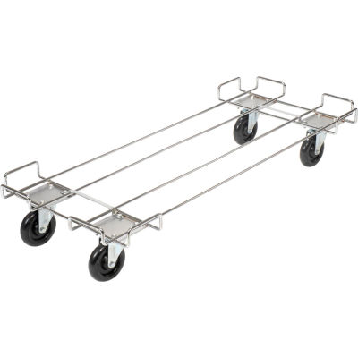 """Global Industrial™ Wire Rack Accessory 48 x 20 Dolly Base - 5 Poly Swivel Casters For 48""""W Bins"""