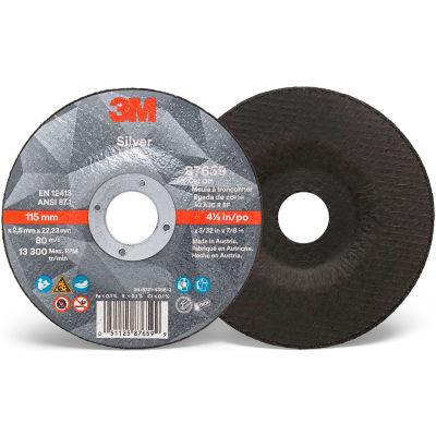 "3M™ Silver Cut-off Wheel, 6"" x 0.045"" x 7/8"" T27, Ceramic Grain, 36 Grit - Pkg Qty 50"