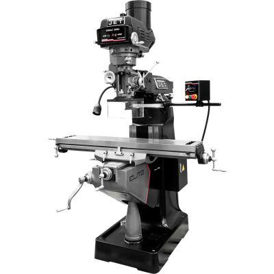 JET® 894111 ETM-949 Mill, 2-Axis ACU-RITE 203 DRO & X-Axis JET Powerfeed & USA Powered Draw Bar
