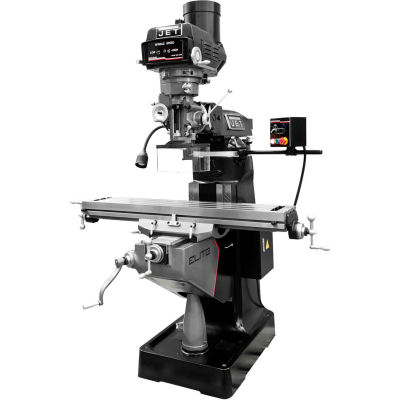 JET® 894134 ETM-949 Mill,2-Axis ACU-RITE 303 DRO,X, Y-Axis JET Powerfeeds,USA Powered Draw Bar
