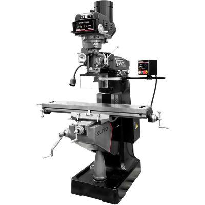 JET® 894146 ETM-949 Mill,3-Axis ACU-RITE 300 (Knee) DRO,X-Axis JET Powerfeed,USA Pwrd Draw Bar