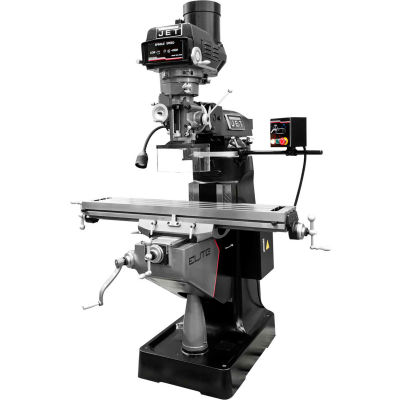 JET® 894168 ETM-949 Mill with 3-Axis Newall DP700 (Knee) DRO and X, Y-Axis JET Powerfeeds