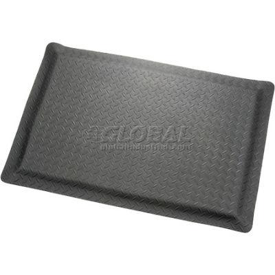 "Diamond Plate Ergonomic Mat 15/16"" Thick 3' x Up To 75' Black"
