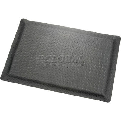 "Apache Mills Diamond Foot™ Diamond Plate Mat 15/16"" Thick 4' x 6' Black"