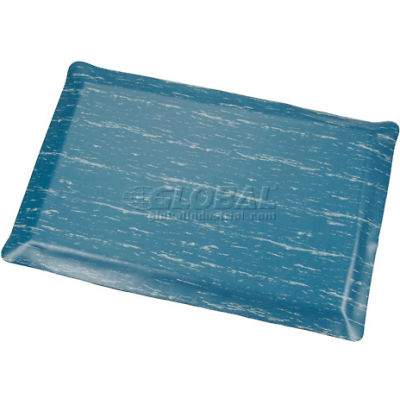 """Apache Mills K-Marble Foot™ Anti-Fatigue Mat 7/8"""" Thick 3' x Up to 60' Blue"""