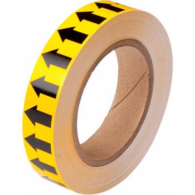 "Brady® 91424 Pipe Marker Arrow Tape, Vinyl, 1""W x 30 Yds., Yellow/Black"