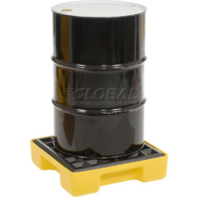 Eagle 1633 1 Drum Spill Containment Modular Platform - Yellow with No Drain