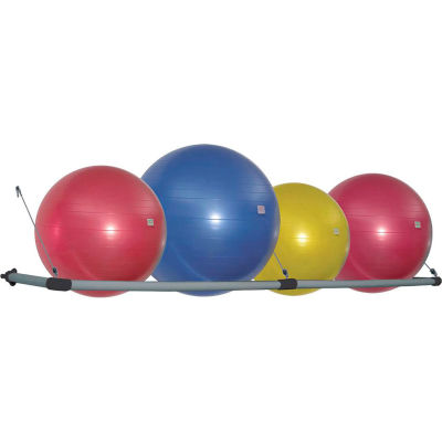Power Systems Stability Ball Wall Storage Rack - Gray