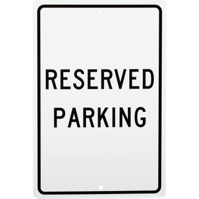 """Aluminum Sign - Reserved Parking - .063"""" Thick, TM5H"""