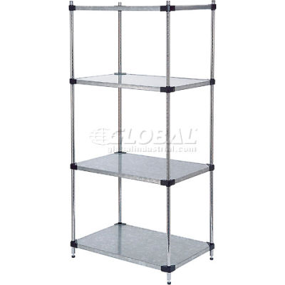 "Nexel® Galvanized Steel Solid Shelving Add-On 48""W x 18"" D x 54 ""H"