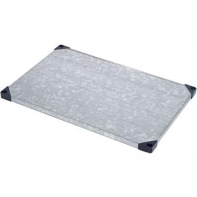 """Nexel® S1872SZ Solid Galvanized Shelf 72""""W x 18""""D"""