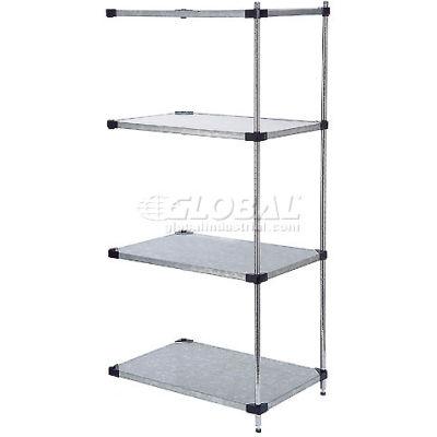 "Nexel® Galvanized Steel Solid Shelving Add-On 48""W x 24"" D x 63 ""H"