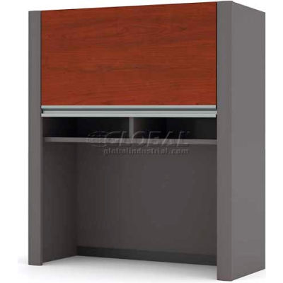 """Bestar® Hutch for Lateral File - 30""""- Bordeaux & Slate - Connexion Series"""